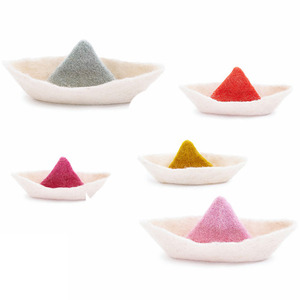 Felt Boat (5colors / 2sizes)