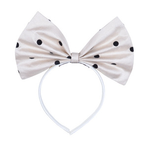 Giant Bow Hairband (polka dot)