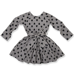 Adele Dress (dark grey heart)