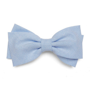 Daisy Hair Clip (blue oxford)