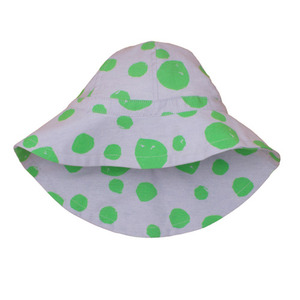 (3/6m)Summer Hat (green dots)