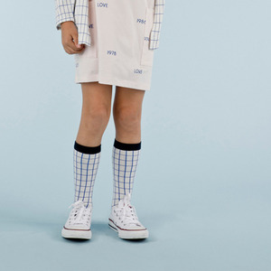 Grid High Socks (blue)
