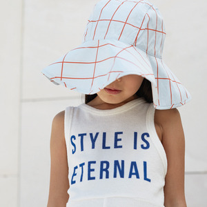 Grid Sun Hat (blue)