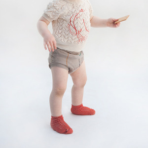 Baby Short Socks Red #225