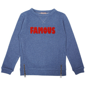 (4,6y)Sweat #486 (bleu chine)