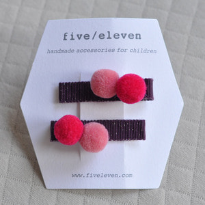 Pompom Clip (grape)