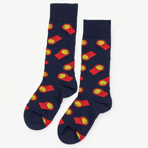 Snail Socks (navy blue)