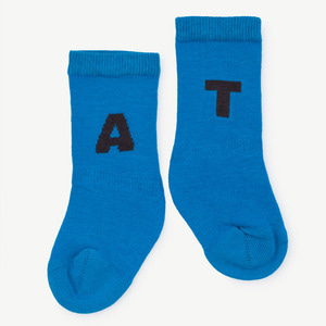 Worm Baby Socks (electric blue)