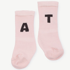 Worm Baby Socks (soft pink)