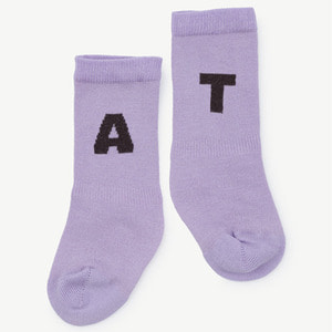 Worm Baby Socks (purple)