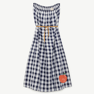 Dolphin Dress (navy blue peach)