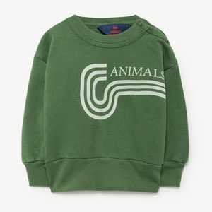 Bear Baby Sweatshirt (green animals)