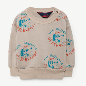 Bear Baby Sweatshirt (beige dogs)