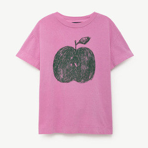 Rooster Baby Tshirt (fuchsia apple)
