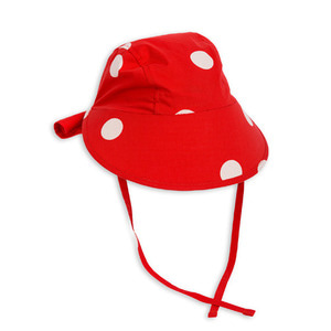 Dot Sun Cap (red)