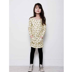 Mini rodini feather dress (yellow)