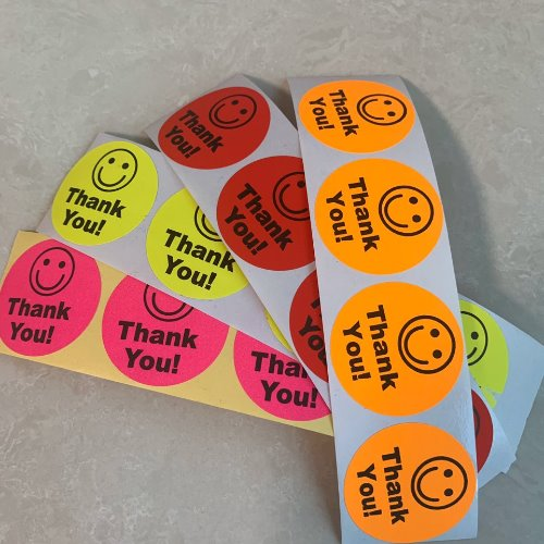 Thank you Sticker (4color/3.8cm)